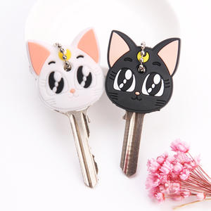 Cover Keychain-Caps Key-Holder Silicone Cartoon Cute 2pcs Women for Home-Supplies Protective