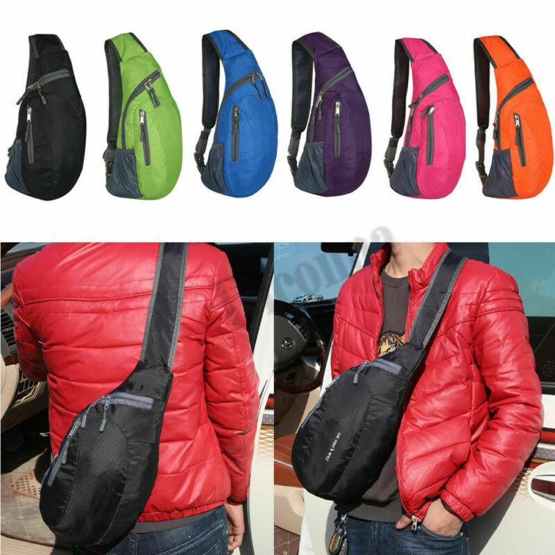 Men Women Chest Packs Shoulder Cross Body Bag Outdoor Sport  Hiking Travel Sling Backpack