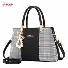 Popular Patchwork Women Shoulder Bag Elegant Female Plaid Crossbody Bag