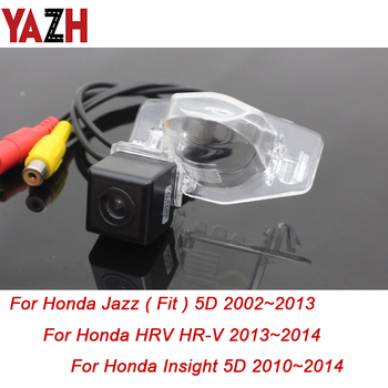 YAZH 175 Degree HD Reverse Rear View Camera For Honda Stream Insight Jazz HRV HR-V 1999-2015 GPS Car Parking Monitor Waterproof image