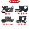 Оригинальный зарядный порт для Xiaomi Mi 8 Pro, плата зарядки для Mi8 SE Lite, USB разъем, PCB док-станция, гибкий кабель, запасные части