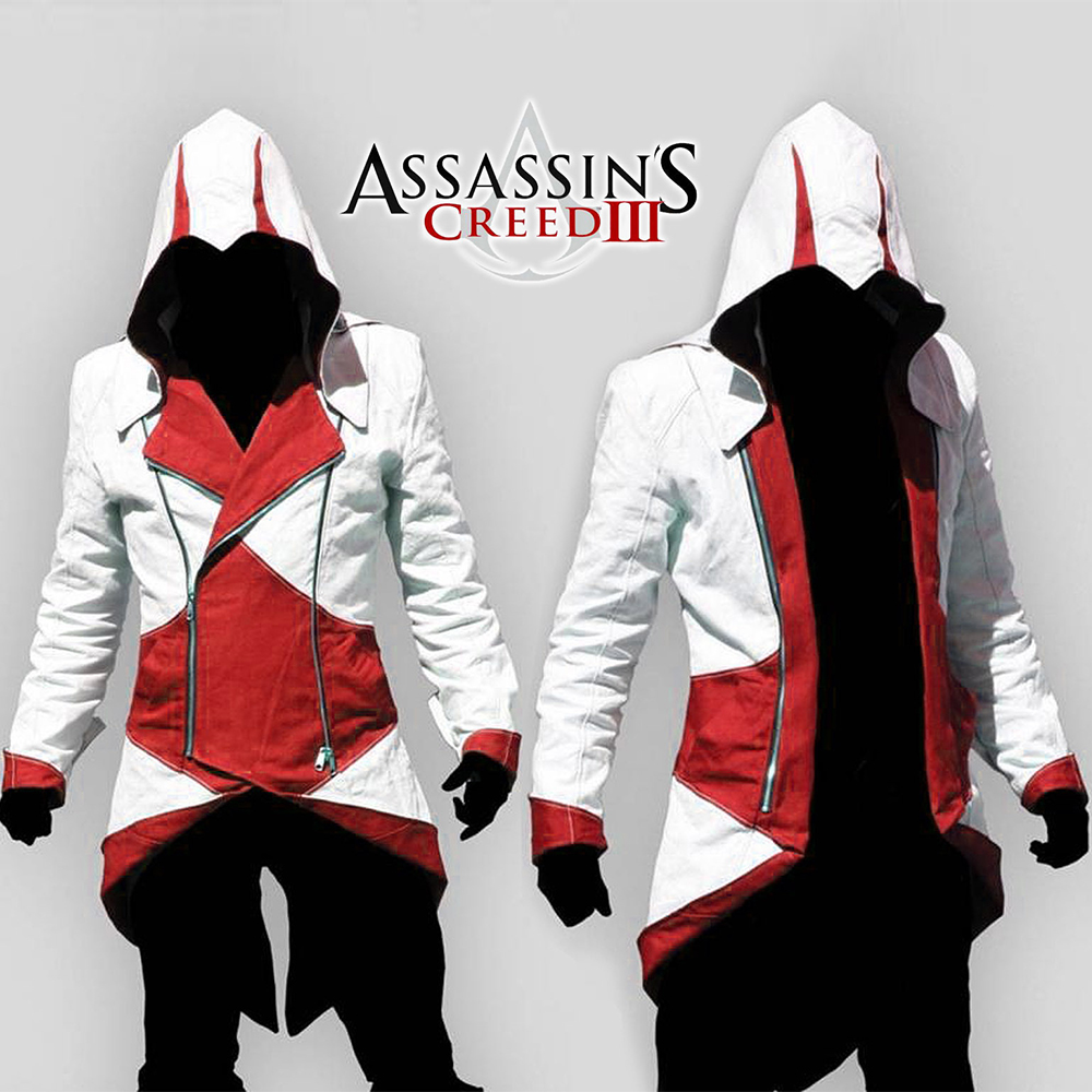assassins creed Halloween Costume Adult Men Casual Streetwear HoodedOutwear Costume Edward assassins creed cosplay Jacket Coats