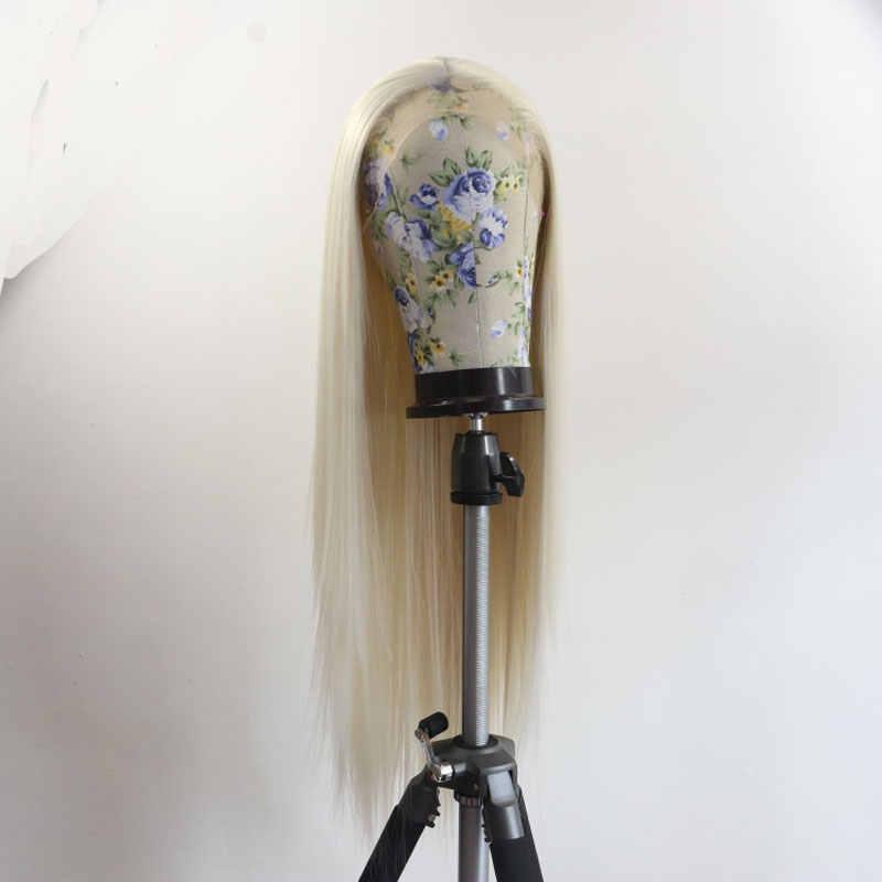 Бомба белые прямые синтетические волосы Синтетические волосы на кружеве парик термостойкие волокна волосы натуральных волос пробор для Для женщин парики