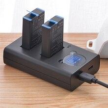 Caricabatterie a doppio Slot per batteria di grande capacità per GoPro MAX accessori per fotocamere ad azione panoramica caricabatterie per fotocamera di ricambio
