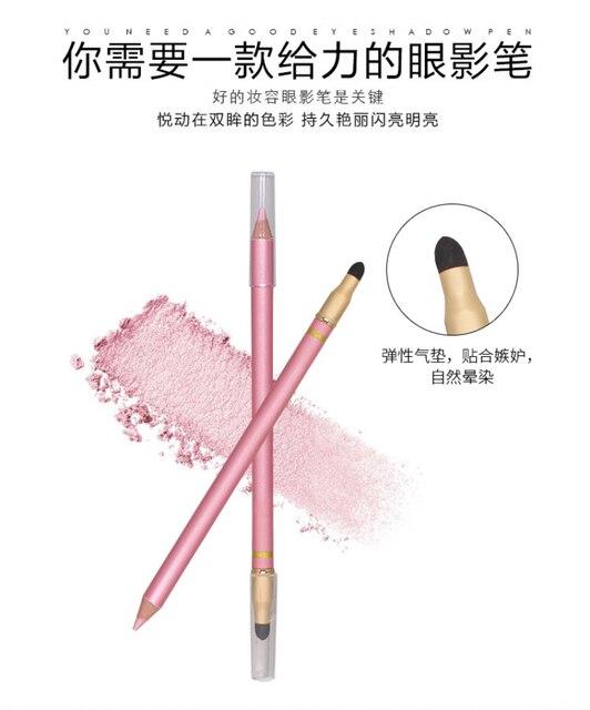 1 Pcs Color Long Lasting Eye Liner Pencil Waterproof Eyeliner Brush Smudge Proof Cosmetic Beauty Makeup Liquid Eye Shadow TSLM1 3