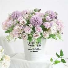 Искусственные розы вазы для украшения дома аксессуары свадебные