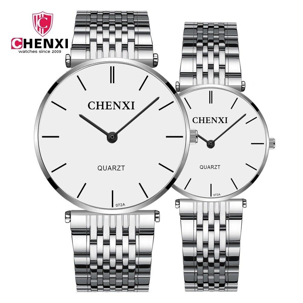 High Quality CHENXI Lovers' Couples Quartz Classic Men Valentine Gift Clock Watches With Ladies Unisex 30m Waterproof Wristwatch