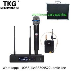 Image 1 - Professionelle bühne leistung mikrofon system drahtlose mikrofon qlxd4 87a haltegriff headset lavalier revers mikrofon mic