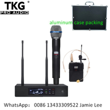 professional stage performance microphone system wireless microphone qlxd4 87a handhold headset lavalier lapel microphone mic