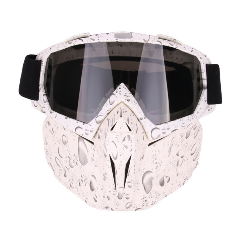 Cycling Windproof Eyewear Outdoor Sports Motorcycle Riding Glasses Goggles Face Mask Women Men PC Lens TPU Frame Plain Glass