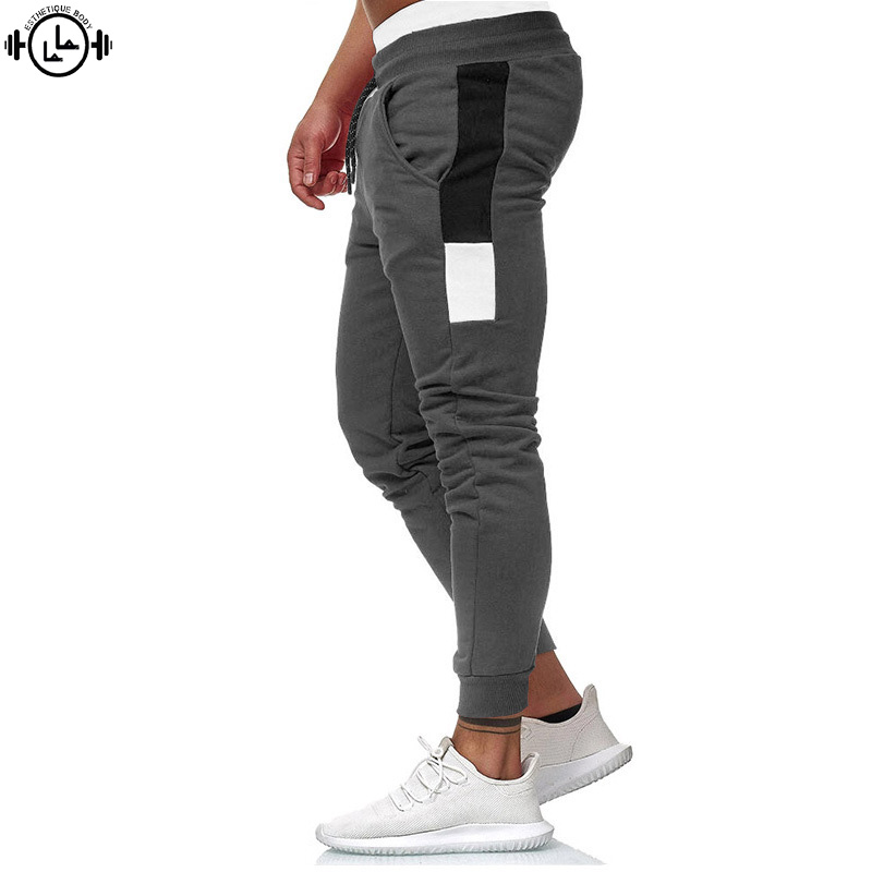 Gym Fitness Plus Size Men's Joggers Running Pants Warm Fleece Soft Bodybuilding Trousers Basketball Sportwear Male Sweatpants