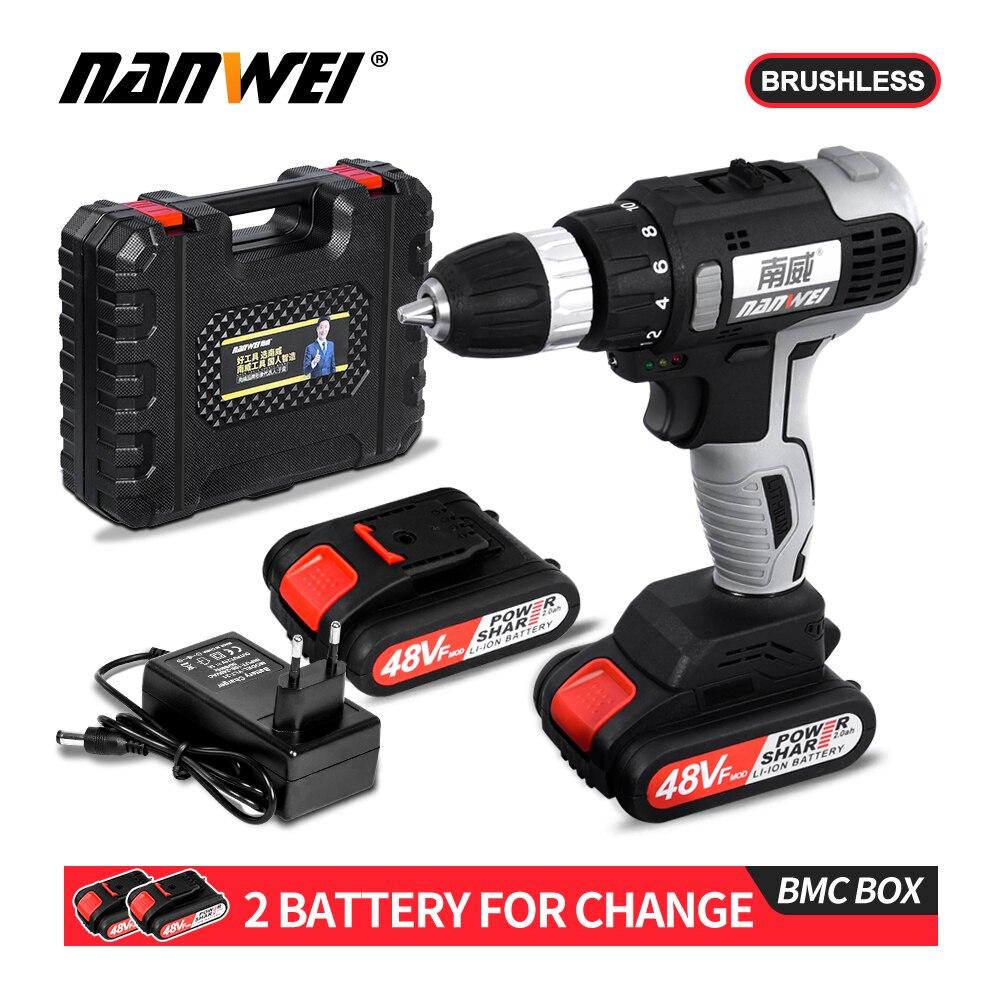 New Arrival NANWEI Brushless Electrical Screw Driver 21V Li-ion