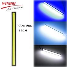 цена на Winhoi 17cm COB LED DRL Driving Daytime Running Lights Strip 12V Auto Panel Lamp Car Light Bar Universal Fog Light External Lamp