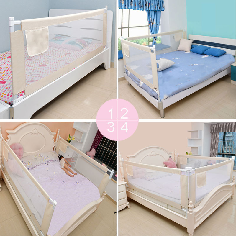 Height Adjustable Baby Gate for Bed with Rails to Protect Newborns and infants From Falling 3