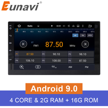 Eunavi  2G RAM Android 6.0 Universal Car Audio Stereo GPS Navigation Double 2 Din 1024*600 HD Car Radio Multimedia Player DAB+ цена 2017