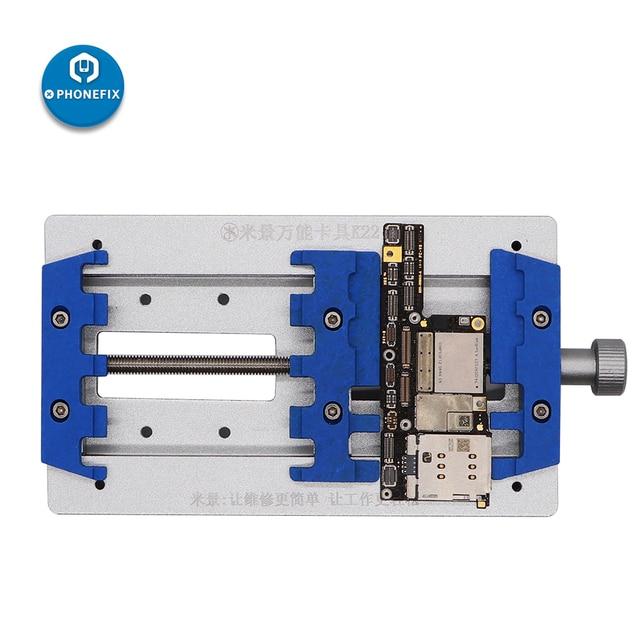 Mj k22 placa de circuito de alta temperatura de solda gabarito fixação para o telefone móvel placa mãe reparação pcb fixação titular