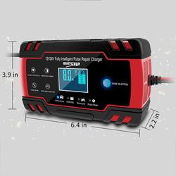 Automotive Smart Battery Charger/Maintainer 12v 8amp/24v 4ampwith Lcd Display For Car Chargertruck Motorcycle Lawn Mower Boat