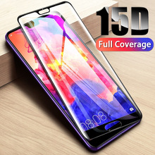 15D Tempered Protective Glass on For Huawei P30 P20 Lite Pro Screen Protector Glass Film For Mate 10 9 20 Lite Full Cover Glass цены