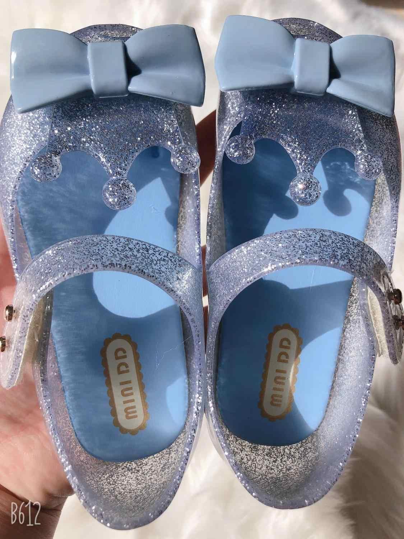 מיני DD 2020 ג 'לי סנדלי נעלי ריקוד מסיבת כתר סנדלי ילדה דגים פה סנדלי נסיכת נוח מליסה SH19109