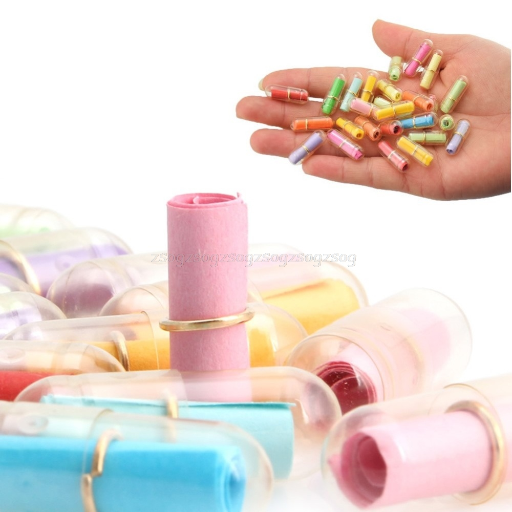 100pcs/Lot Message In A Bottle Message Cute Capsule Letter Love Pill Full Clear Color Mini Wish Bottle Jy23 19 Dropship