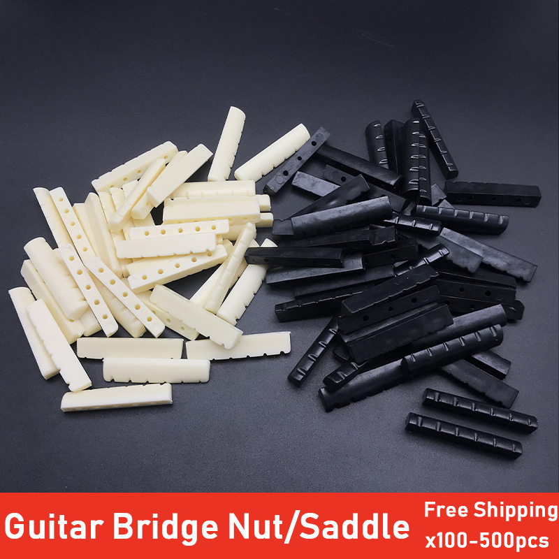 100pcs High Quality Plastic <font><b>Guitar</b></font> String <font><b>Bridge</b></font> Pin Nut and <font><b>Saddle</b></font> <font><b>Bridge</b></font> Pin for 6 Strings <font><b>Acoustic</b></font> <font><b>Guitar</b></font> Black Ivory image