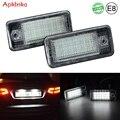 Задний светодиодный светильник для номерного знака для Audi A3 S3 8P A4 S4 B6 B7 A6 C6 S6 RS4 RS6 Plus Avant Quattro, 2 светильник т.