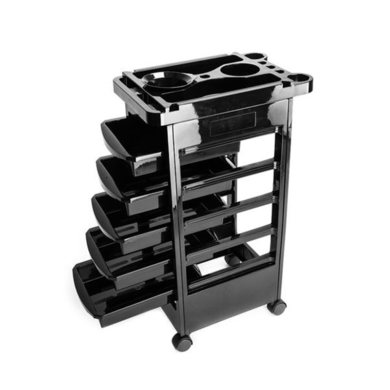 5 Tier Removable Portable Plastic Hairdresser Beauty Storage Trolley Hair Car Salon Trolley Rolling Storage Cart Tools Accessory