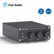 Fosi Audio TB10A TPA3116D2 Stereo Amplifier Receiver 2 Channel Mini HiFi Power Amplifier Audio For Home Speakers Bass Treble