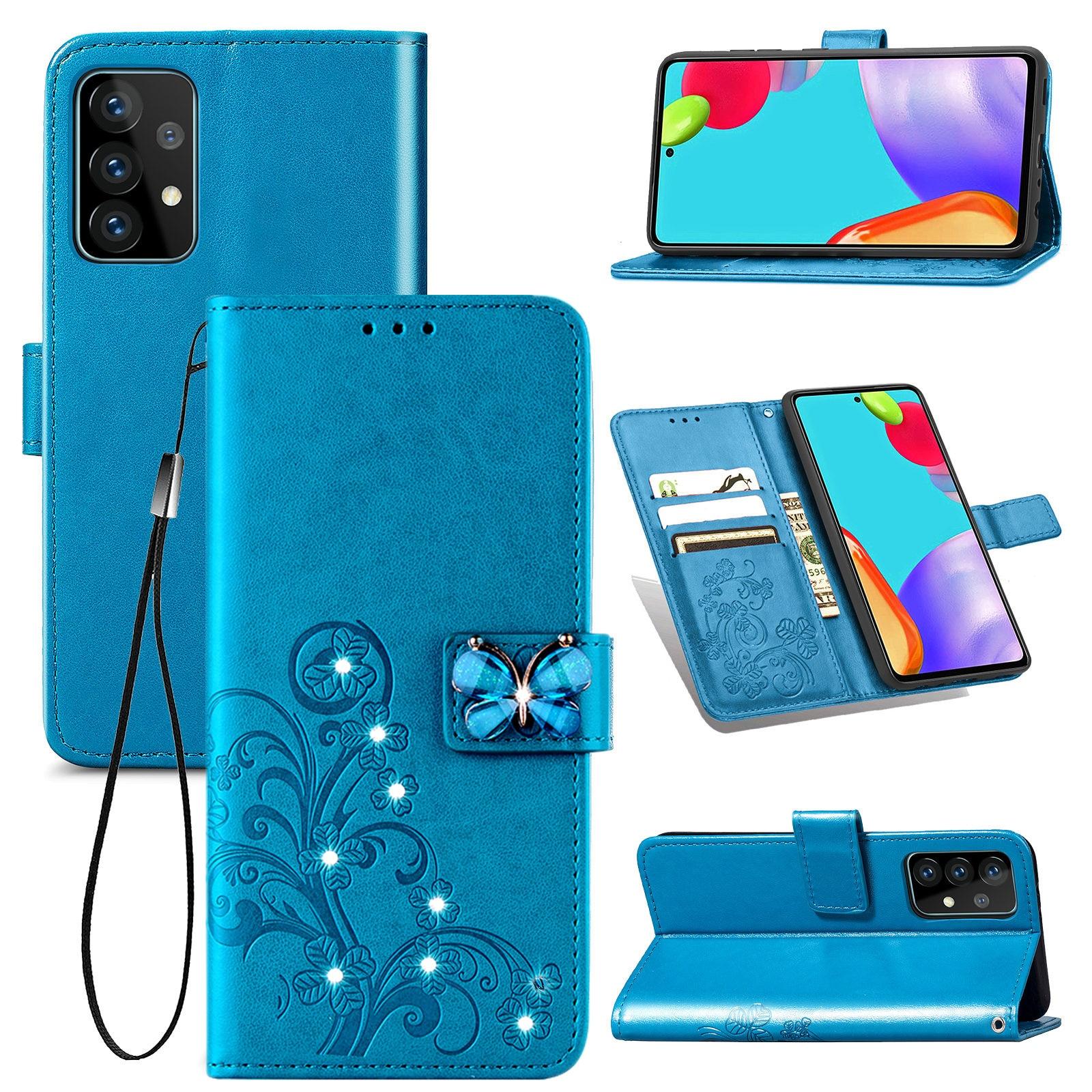Для Coque Samsung A42 5G флип-кейс с бабочками Чехол-бумажник чехол для Samsung Галактики A12 чехол 42 12 52 A52 A72 A32 A02S кожаный чехол-накладка