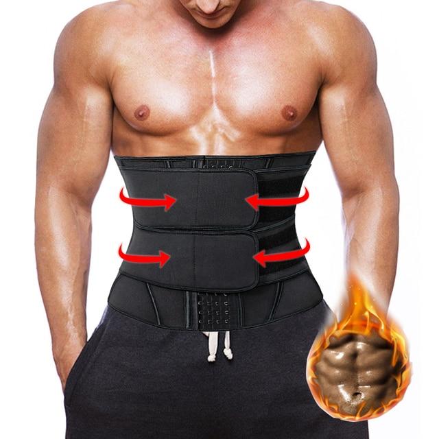 Men's Waist Trainer Weight Loss Body Shaper Belly Shapers Tummy Shapewear Abdomen Slim Girdle Promote Sweat Trimmer Belt Corset