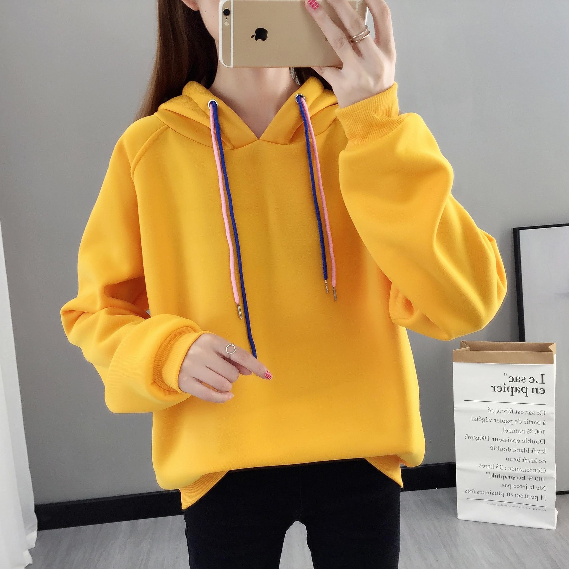 Hoodie Casual Cute Longsleeve Sweatshirt Pullover With Ears M-XXL Ladies Top Sweatershirt