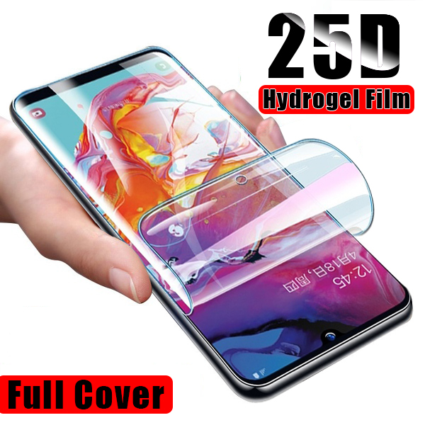 Hydrogel Film For Samsung Galaxy S9 S10 Plus Screen Protector For Samsung A6 A7 A8 A9 Plus 2018 S10E S10 Lite Soft Film