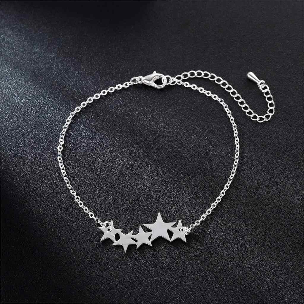 Cxwind Rvs Star Charm Armband Boho Strand femme Dainty Sieraden Tiny Lucky Star Ketting Armbanden voor Vrouwen Pols Gift