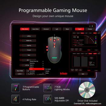 RedThunder One-Handed Gaming Keyboard RGB Backlit 6400dpi Macro Programming Mouse Combos,Portable Mini Keypad for Laptop PC 5