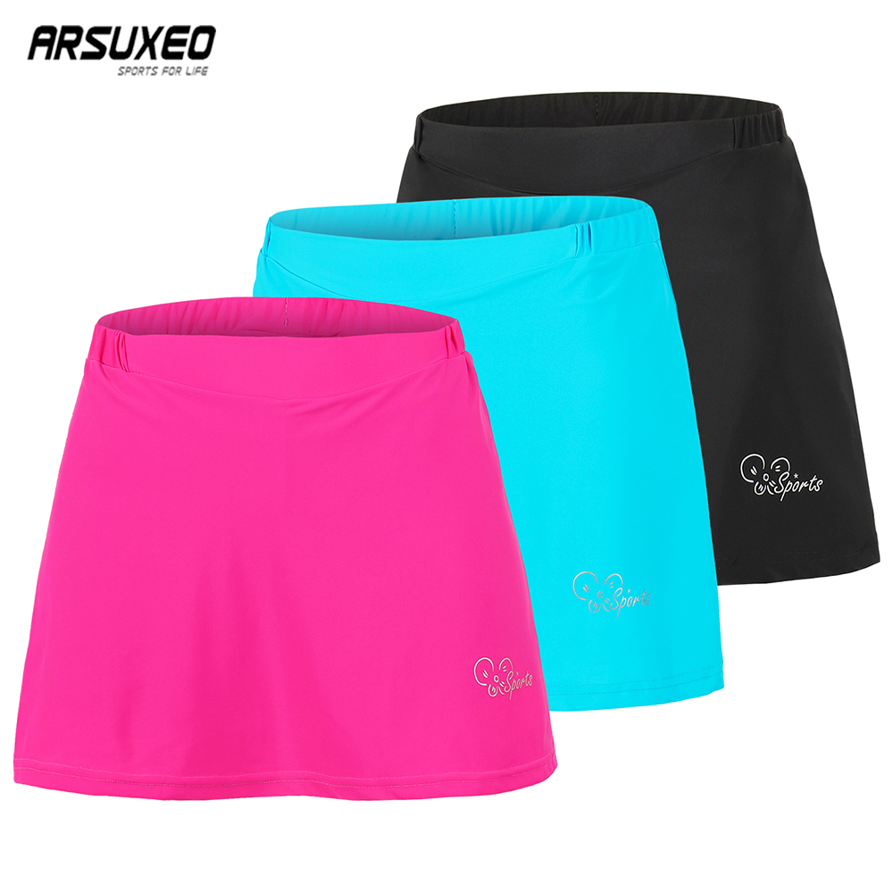 ARSUXEO Summer Cycling Skirt Women Road Bike 2 In 1 Skirt Shorts With Gel Paded Riding Shorts Outdoor Sport Breahtable Quick