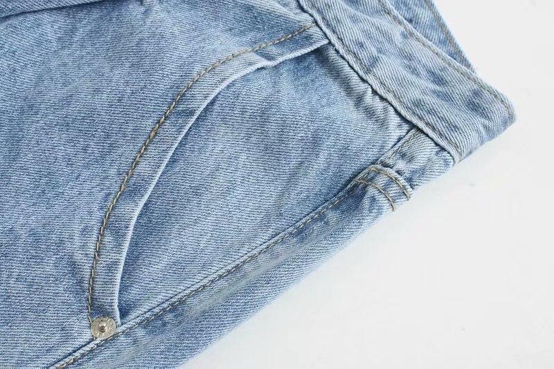 Aachoae Women Blue Harem Jeans Loose mom Jeans High Waist Streetwear Boyfriends Washed Denim Long Trousers Bottoms Slouchy Jeans