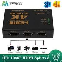 Conmutador HDMI 4K 3 en 1 out HD 1080P, Cable divisor 1x3 Hub Adaptador convertidor para PS4/3 TV Box HDTV PC
