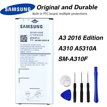 Original Samsung EB-BA310ABE Battery For Samsung GALAXY A3 2016 Edition A310 A5310A SM-A310F A310F NFC 2300mAh защитное стекло partner для samsung a3 2016 a310 твердость 9h
