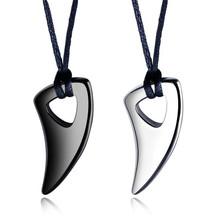 enfashion chinese zodiac ox necklace bull head stainless steel chain pendant womens necklaces jewelry ras de cou pfy183004 ox Wolf's Fang Pendant Necklace Male Jewelry On The Neck Stainless Steel Ox Horn Personality Necklace For Men Boyfriend Gift