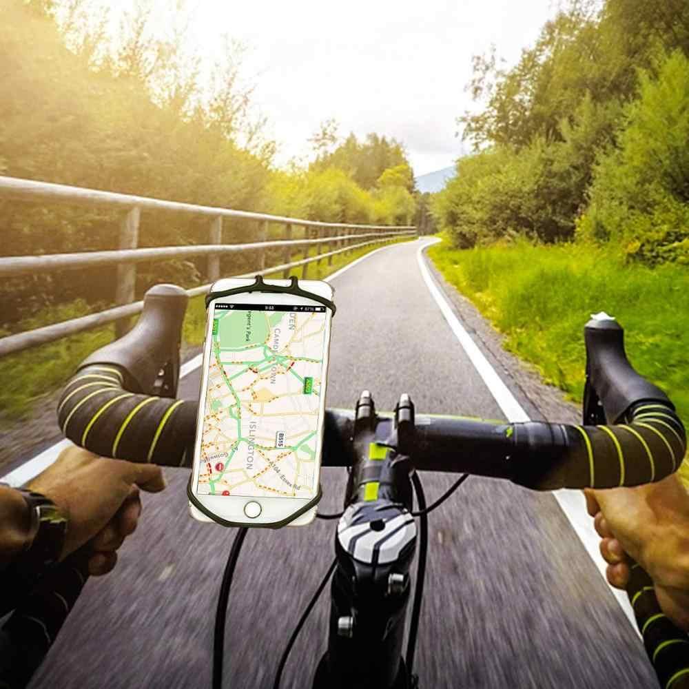 シリコーン自転車電話ホルダー 11 プロマックス 6 7 8 プラス x Xr Xs 携帯電話マウントバンドバイク GPS クリップユニバーサル