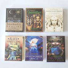 2020 New English Oracle Cards Mysterious Fortune Tarot Deck For Divination Fate White Light Oracle Card family party game