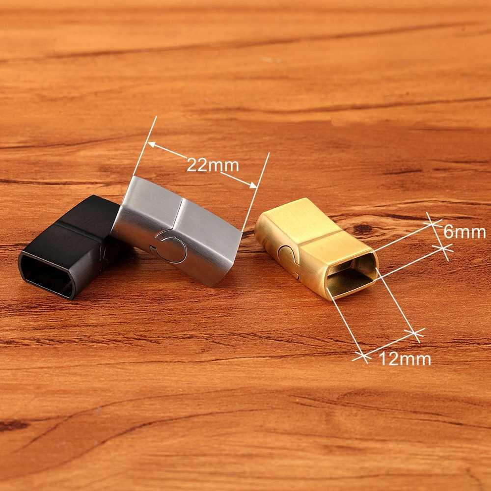 XQNI DIY สแตนเลสสตีล Buckle ทอง/สีดำ/เหล็กสีสำหรับเลือกฟรีชุดของขวัญ
