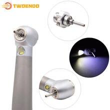 High Standard New Type Dental LED Cartridge Rotor Push Button Air Turbine Handpiece 4 Hole Fiber Optic Dental Material Oral Care
