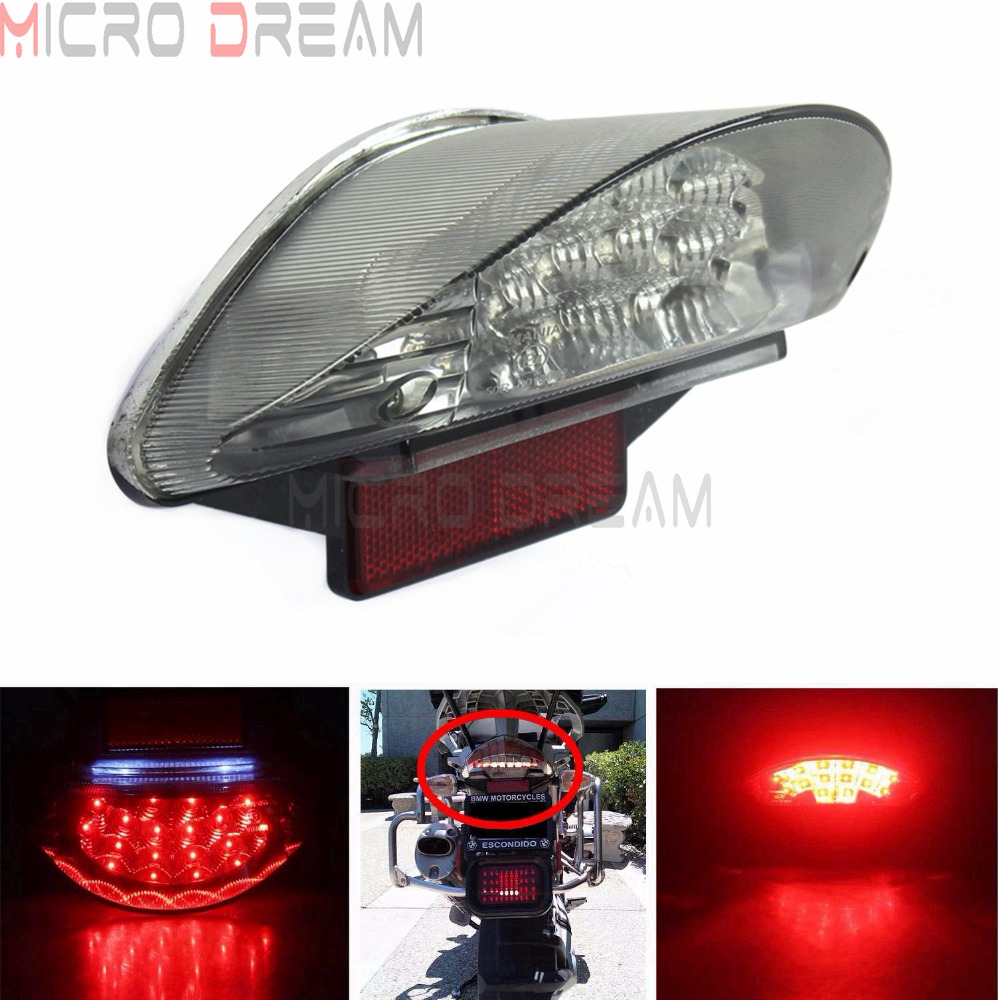 Red LED License Plate Light Motorcycle Taillights For BMW F650 F650GS F650ST F800S F800ST R1200GS R1200GS Adventure R1200 R