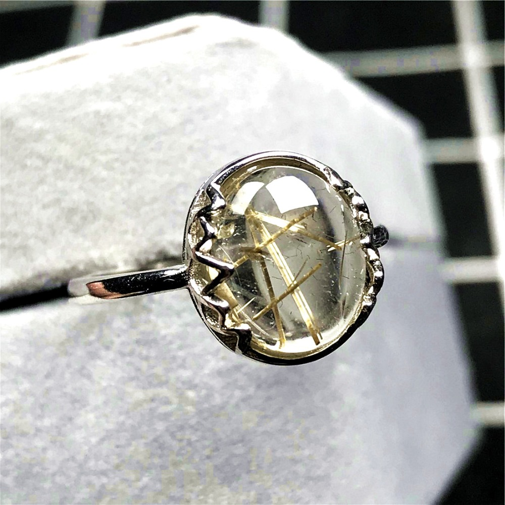 Gold Rutilated Ring (50)