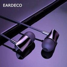EARDECO 3.5mm dans loreille filaire téléphone écouteur Super basse stéréo sport écouteurs casque avec micro dynamique Fone de ouvido pour iPhone