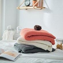 Латинское Новое Стильное хлопковое акриловое вязаное одеяло шерстяное одеяло покрывало для дивана домашнее мягкое украшение