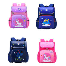 2020 Kids 3D Orthopedic Cartoon Unicorn School Bags Grade 1-3 Children School Backpack for Girls Boys Schoolbag Mochila Infantil(China)