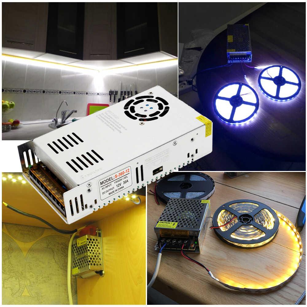 Fuente de alimentación conmutada DC12V 1A 2A 5A 8,3a 10A 15A 16,7a 20A 25A 30A 33A 40A 50A, transformadores de iluminación para tira LED
