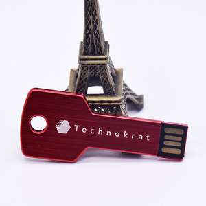 Key Shape USB flash Drive 128GB 64GB 32GB 8GB Metal Pen Drive Pendrive 128 64 32 16 8 GB Flash Memory Cle USB Stick for Wedding